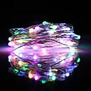 ieftine Benzi Flexibile Becuri LED-Zdm 5m flash colorat încorporat ic șiruri lumini 50 leduri smd 0603 petrecere multicoloră / decorativă / decorațiuni de nunți de Crăciun alimentate cu usb / aa baterii alimentate 1 buc