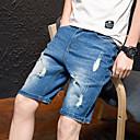 preiswerte Hosen-Herrn Grundlegend Kurze Hosen Hose - Solide Marineblau Leicht Blau US40 US42 US44