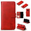 رخيصةأون Huawei أغطية / كفرات-غطاء من أجل Huawei هواوي نوفا 4e / هواوي الشرف 8A / Huawei Honor 7C(Enjoy 8) محفظة / حامل البطاقات / مع حامل غطاء كامل للجسم لون سادة / قطة قاسي جلد PU