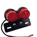 abordables Eclairage de Moto-rétro led moto jumeau double queue clignotant frein plaque d'immatriculation intégré lumière