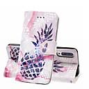 رخيصةأون حافظات / جرابات هواتف جالكسي A-غطاء من أجل Samsung Galaxy A6 (2018) / A6+ (2018) / Galaxy A7(2018) محفظة / حامل البطاقات / ضد الصدمات غطاء كامل للجسم مأكولات قاسي جلد PU