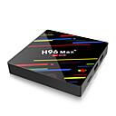 ieftine Brățări-4g 32gb cutie de televiziune h96 max + android 8.1 cutie inteligentă de televiziune rk3328 quad-core 64bit cortex-a53 4gb 64g penta-core mal-450 până la 750mhz + hd / h.265 / wifi bt 4.1 smart set top