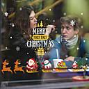 رخيصةأون الستائر-نافذة فيلم عيد الميلاد&أمبير. ملصقات الديكور عيد الميلاد / عطلة الزهور / هندسية pvc (بولي فينيل كلوريد) نافذة ملصقا