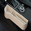 رخيصةأون منظمو السيارات-صندوق تخزين جلد متعدد الوظائف للفجوة الجانبية لمقعد السيارة