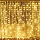 ieftine Fâșii Becurie LED-3mx2m 240l alb / cald alb / multicolor lumina romantice Crăciun nunta decorare exterior cortina lumina string