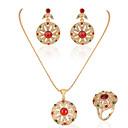 ieftine Seturi de Bijuterii-Pentru femei Zirconiu Cubic Seturi de bijuterii de mireasă Bucurie Stilat cercei Bijuterii Auriu Pentru Petrecere Zilnic 1set