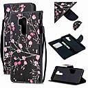 Недорогие Чехлы и кейсы для LG-Кейс для Назначение LG LG Q Stylus / LG StyLo 3 / LG Stylo 4 Кошелек / Бумажник для карт / Защита от удара Чехол Цветы Кожа PU