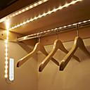 ieftine Benzi Flexibile Becuri LED-1m Fâșii De Becuri LEd Flexibile / Smart Lights 30 LED-uri SMD2835 1 x senzor PIR Alb Cald / Alb Rece Creative / Decorativ / Senzor de corp Baterii alimentate 1 buc