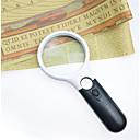 ieftine Lupe-handheld 3x 45x iluminat lupă microscop lupă de ajutor citire pentru 3 condus