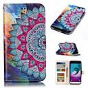 رخيصةأون حافظات / جرابات هواتف جالكسي J-غطاء من أجل Samsung Galaxy J3 (2016) محفظة / حامل البطاقات / قلب غطاء كامل للجسم زهور قاسي جلد PU