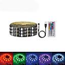 ieftine Benzi Lumină LED-LOENDE 2m Bare De Becuri LED Rigide 60 LED-uri SMD5050 RGB USB / Petrecere / Auto- Adeziv 5 V / Alimentat USB 1set