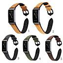 رخيصةأون أساور ساعات FitBit-حزام إلى Fitbit Charge 3 فيتبيت بكلة كلاسيكية سيليكون / جلد طبيعي شريط المعصم