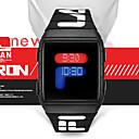 رخيصةأون ساعات الرجال-رجالي ساعة رقمية رقمي رياضي ستايل سيليكون أسود / أزرق / أحمر 30 m مقاوم للماء تصميم جديد LCD رقمي كاجوال موضة - أسود أحمر أزرق سنة واحدة عمر البطارية