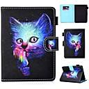 ieftine Carcase/Huse Kindle-Maska Pentru KOBO kobo clara HD Titluar Card / Anti Șoc / Cu Stand Carcasă Telefon Pisica Greu PU piele