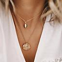 ieftine Colier la Modă-Pentru femei Coliere Layered Crom Auriu 54 cm Coliere Bijuterii 1 buc Pentru Zilnic Școală Stradă Concediu Festival