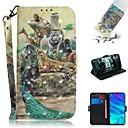 ieftine Carcase / Huse de Huawei-Maska Pentru Huawei Huawei Honor 10 / Onorată 10 Lite / Onoare 10i Portofel / Titluar Card / Anti Șoc Carcasă Telefon Animal PU piele