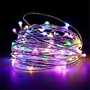 رخيصةأون أضواء شريط LED-10 متر 100 المصابيح usb بالطاقة الفضة سلسلة الأسلاك النحاسية أضواء عيد الميلاد الطوق الجنية عطلة حفل زفاف عيد الميلاد أضواء الديكور