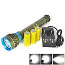 ieftine Ustensile & Gadget-uri de Copt-Lanterne LED Lanterne de Scufundări 10000 lm LED emițători 7 Mod Zbor Rezistent la apă Profesional Anti-Şoc Camping / Cățărare / Speologie Scufundare / Canotaj Vânătoare Verde Pădure