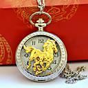 رخيصةأون ساعات الرجال-رجالي ساعة جيب كوارتز فينتاج نقش جوفاء إبداعي تصميم جديد تناظري-رقمي عتيق - ذهبي