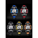 Недорогие Фирменные часы-Муж. Модные часы Цифровой Стеганная ПУ кожа Черный / Аналоговый На каждый день - Желтый Красный Синий / Нержавеющая сталь