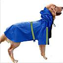 ieftine Accesorii Wii-Câine Haină de ploaie Îmbrăcăminte Câini Mată Rosu Albastru Închis Nailon Costume Pentru Husky Labrador Malamute de Alasca Primăvara & toamnă Vară Bărbați Pentru femei Impermeabil Αντιανεμικό