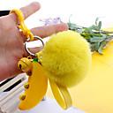 ieftine Breloc-breloc Banană Fructe European Modă Inele la Modă Bijuterii Galben Pentru Cadou Antrenament