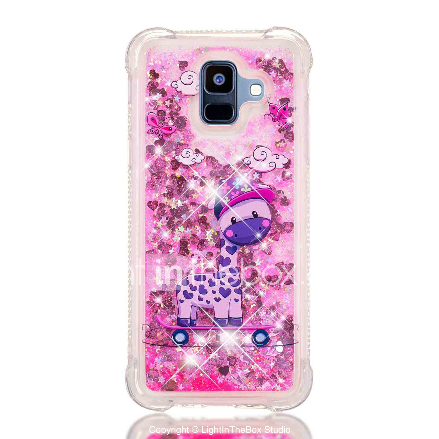 420172132b739d Case For Samsung Galaxy A8 Plus 2018 / A7(2018) Shockproof / Flowing Liquid  / Transparent Back Cover Animal / Glitter Shine Soft TPU for A6 (2018) /  A6+ ...