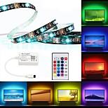 billiga -brelong ledde tv-bakgrundsbelysning rgb flexibel flerfärgad ip65 epoxid vattentät med infraröd kontroller 24-tommers fjärrkontroll halloween dekoration tv dator bakgrundsbelysning 2m 60led