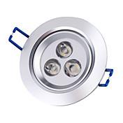 3000 lm Luces de Techo Luces Empotradas Descendentes Luces Empotradas 3 leds LED de Alta Potencia Blanco Cálido AC 85-265V