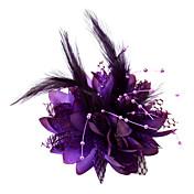 Mujer Niña de flor Pluma Algodón Celada-Boda Ocasión especial Tocados Flores