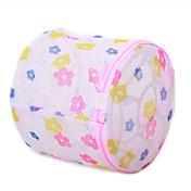 patrón de flores sujetador bolsa de lavandería de enfermería