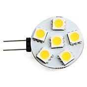 1.5 W 150 lm G4 Focos LED 6 Cuentas LED SMD 5050 Blanco Cálido 12 V / #