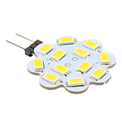 1W 100-150lm G4 Luces LED de Doble Pin 12 Cuentas LED SMD 5630 Blanco Cálido 12V
