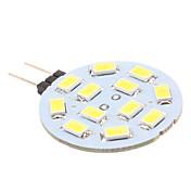 170 lm G4 LED-lamper med G-sokkel 12 LED perler SMD 5630 Naturlig hvit 12 V / # / #