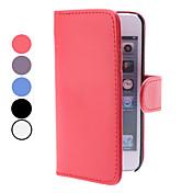 아이폰5용 카드슬롯이있는 지갑 PU 가죽케이스 (여러색상)