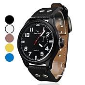 남자의 PU 아날로그 석영 손목 시계 (분류 된 색깔)