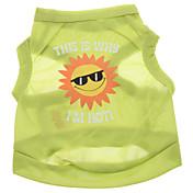 Perro Camiseta Ropa para Perro Letra y Número Verde Terileno Disfraz Para mascotas