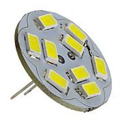 2W 6000lm G4 LED-spotpærer 9 LED perler SMD 5730 Naturlig hvit 12V