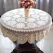 100% algodón Redondo Forros de Mesa Floral Decoraciones de mesa