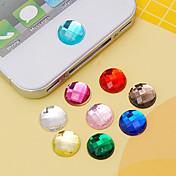 etiqueta engomada de acrílico del botón del joyland (colores al azar) diy para la galaxia s8 s7 samsung del iphone 8 7