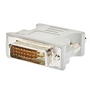 DVI 24+1 hann til  VGA hunn-adapter, hvit
