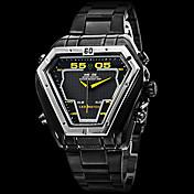 WEIDE Hombre Cuarzo Cuarzo Japonés Reloj de Pulsera Reloj Militar Despertador Calendario Cronógrafo Resistente al Agua LED Dos Husos