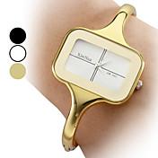 Mujer Reloj de Moda Reloj Pulsera Cuarzo Aleación Banda Brazalete Elegantes Dorado Dorado Blanco Negro