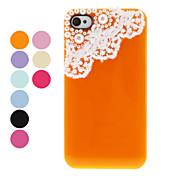 아이폰 4/4S (분류 된 색깔)를위한 진주와 레이스를 가진 방어적인 뒤 케이스