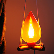 Leña del estilo de la lámpara luz de la noche (color al azar)