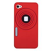 Cámara Patrón Funda de silicona para el iPhone 4/4S (colores surtidos)