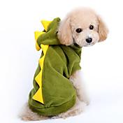 Perro Disfraces Saco y Capucha Ropa para Perro Caricatura Rojo Verde Algodón Disfraz Para mascotas Hombre Mujer Bonito Cosplay