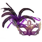 Máscara Mujer Halloween Carnaval Festival/Celebración Disfraces de Halloween Negro Azul Piscina Púrpula Beige Fucsia