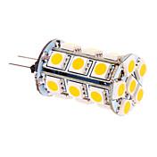 370 lm G4 LED 콘 조명 T 24 LED가 SMD 5050 따뜻한 화이트 DC 12