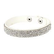 Mujer Tenis pulseras Diseño Único Moda joyería de disfraz Cristal Piel Diamante Sintético Joyas Joyas Para Fiesta Diario Regalos de